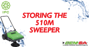 CEMSA Storing The 510M Sweeper