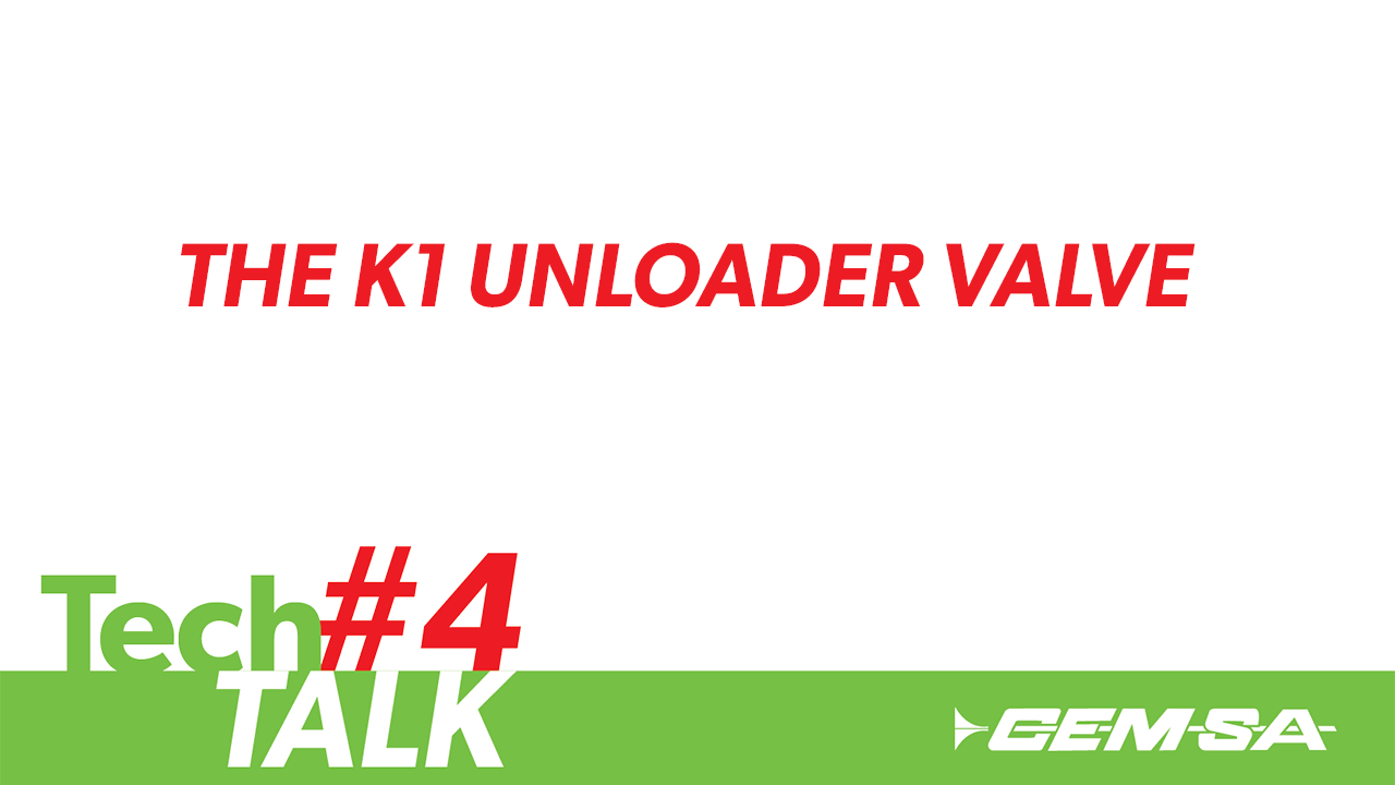 TechTalk #4- The K1 Unloader Valve