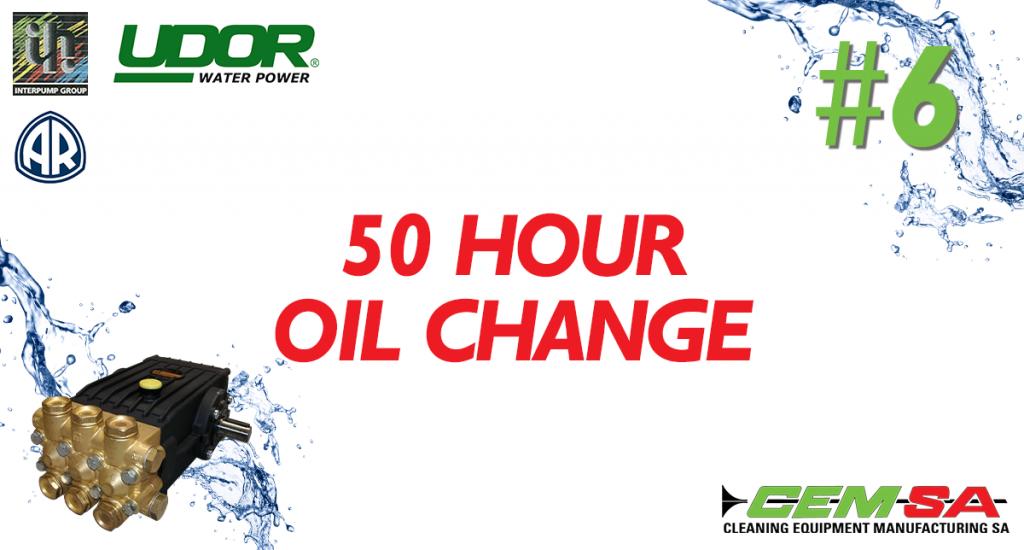 CEMSA 50 Hour Oil Change