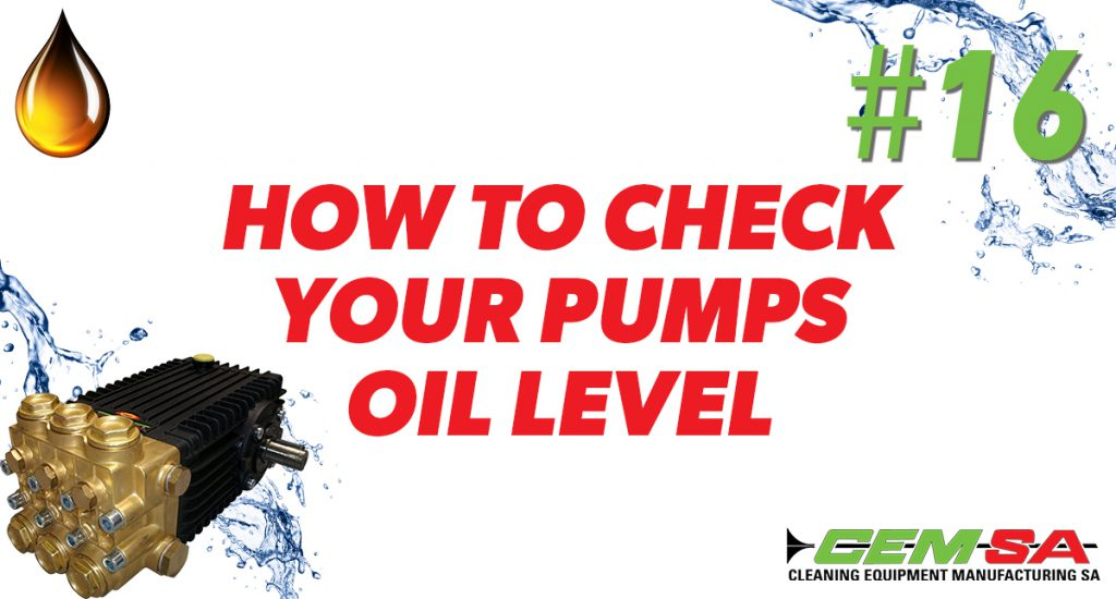 CEMSA how to check your pumps oil levels