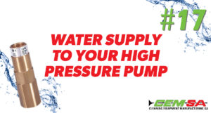 CEMSA Water supply to your high pressure pump
